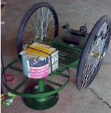 รถตัดหญ้า 2 ล้อ (เหล็กฉากหนา) ล้อจักรยาน 26 นิ้ว รุ่นยางตัน