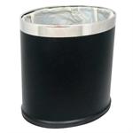 ถังขยะ รูปทรงวงรี สีดำ 1402-057 (002616)