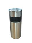 ถังขยะสแตนเลสแบบมีที่เขี่ยบุหรี่ 1402-064  (002615)