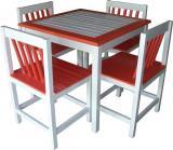 โต๊ะอาหารเหลี่ยมมีพนักพิง-เก้าอี้