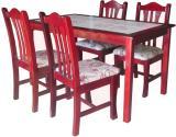 โต๊ะอาหารหน้ากระเบื้อง 1.35