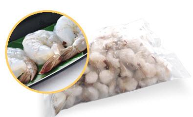 กุ้งขาวดิบแกะเปลือกไว้หาง PUD 60/70