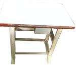 โต๊ะจักรโพ้งเล็กหน้าขาว/หน้าลายผ้า