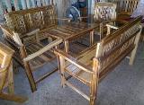 โต๊ะชุดรับแขกไม้สัก แบบซี่ (สีธรรมชาติ)