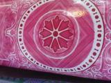 เสื่อน้ำมัน ลายดอกสีชมพู