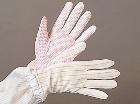 ถุงมือผ้าโพลีเอสเตอร์เคลือบ PVC เต็มฝ่ามือ (แบบปุ่ม) รุ่น G101