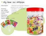 อมยิ้ม Big Bear zoo minipops รส ผลไม้รวม