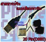สายชาจน์จีน แบบเสียบ 20 pin D880