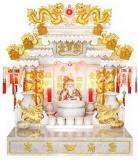ศาลเจ้าที่จีน 27 นิ้วรุ่นมังกร 8 แบบทอง