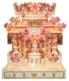 ศาลเจ้าจีน 27 นิ้วรุ่น 888 แบบคริสตัลแดง