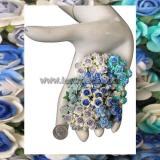 ดอกไม้กระดาษ สีน้ำเงิน R2-607
