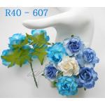 ดอกไม้กระดาษ สีน้ำเงิน R40 - 607
