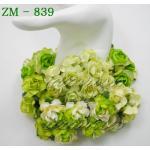 ดอกไม้กระดาษ สีเขียว ZM 1- 839
