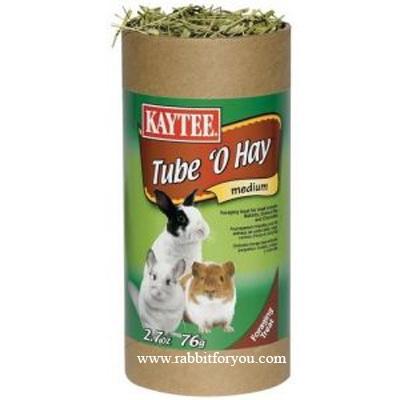 หญ้าแห้งกระต่าย KAYTEE Tube O Hay ขนาดกลาง
