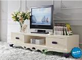 ชั้นวางทีวี Vintage French white TV cabinet