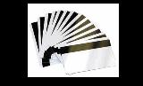 บัตรพลาสติกสีขาวแถบแม่เหล็ก Hi-Co หนา 0.76 มม.