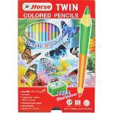 ดินสอสี 2 หัว ตราม้า 18 ด้าม 36 สี