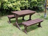 โต๊ะชุดสนาม สีน้ำตาล FGF-MPT07