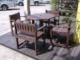 ชุดสนาม สีโอ๊ค โต๊ะ 1 เก้าอี้ 4 FGF-MPT36