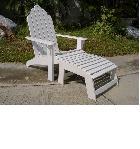 เก้าอี้รูปใบพัด สีขาว (ไม่รวมที่พักเท้า) FGF-MPT78
