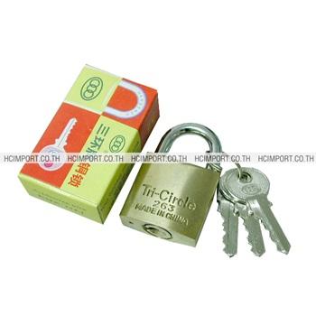 กุญแจทองเหลือง3ห่วง