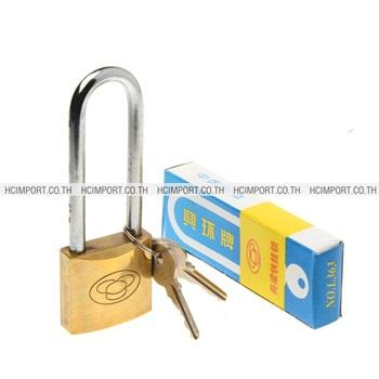 กุญแจทองเหลือง4ห่วงคอยาว