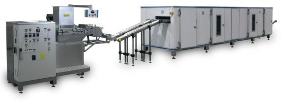 เครื่องผลิตหมากฝรั่งและลูกกวาดชนิดนิ่ม (Extrusion and Cooling Line)