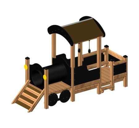 ของเล่นไม้ Locomotive Nature