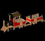 ของเล่นไม้ Locomotive with cars