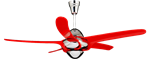 พัดลมติดเพดาน URAGANO-RED 9988