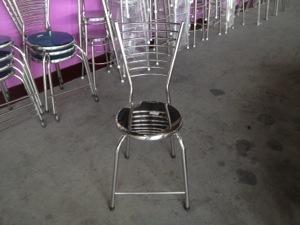 เก้าอี้แสนเลสมีพนักพิง-สแตนเลส