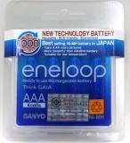 แบตเตอรี่ eneloop AAA บรรจุ 4 ก้อน ขนาด 800 mAh Ni-MH