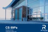 ประตูหน้าต่างอลูมิเนียมรุ่น CS 59Pa