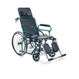 รถเข็นผู้ป่วยแบบเอนนอน  Model - FS-902 GC  (ปรับนอนได้)