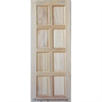 ประตูทึบลูกฟักแปดเต้า ไม้สยาแดง 80 x 200