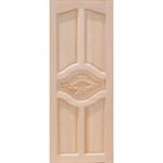 ประตูทึบแกะสลักกลาง ไม้สยาแดง 80 x 200