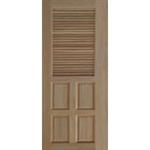 ประตูทึบลูกฟักล่างเกล็ดบน ไม้สยาแดง 80 x 200