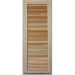 ประตูทึบบานเกล็ด ไม้สยาแดง 80 x 200