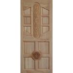 ประตูทึบแกะสลัก ไม้สยาแดง 80 x 200