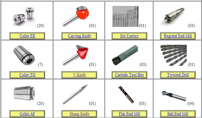 อะไหล่เครื่องจักร CNC (Tooling CNC)